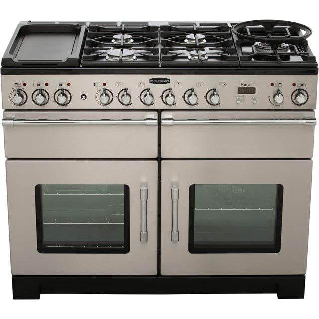 Rangemaster EXL110DFFCY/C Excel 110cm Dual Fuel Range Cooker - Cranberry / Chrome - EXL110DFFCY/C_CY - 5