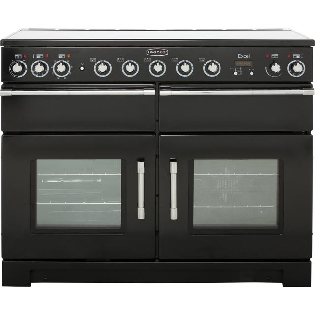 Rangemaster Excel 110cm Electric Range Cooker with Induction Hob - Black - A/A Rated