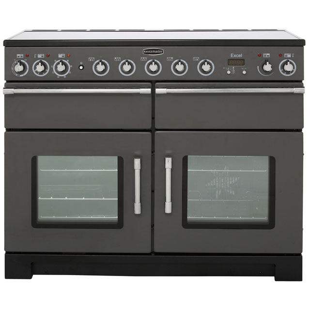 Rangemaster Excel 110cm Electric Range Cooker with Induction Hob - Slate - A/A Rated