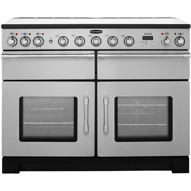 Rangemaster Excel 110cm Electric Range Cooker with Induction Hob - Stainless Steel - A/A Rated