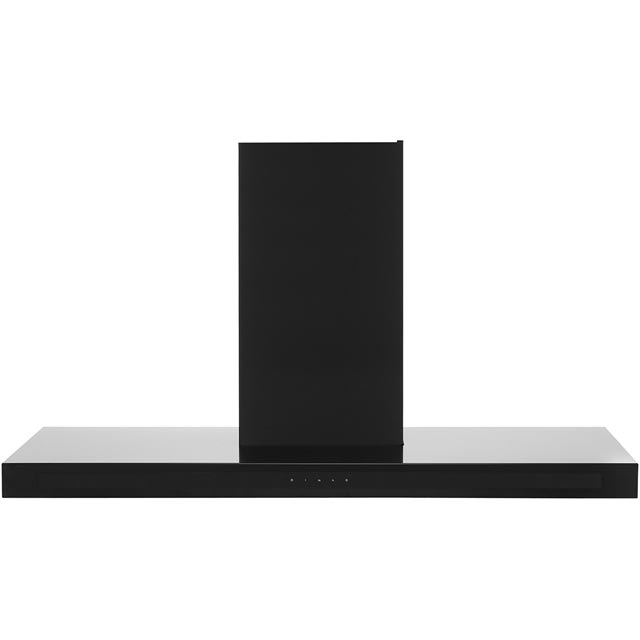 Rangemaster Hi-Lite Flat 110 cm Chimney Cooker Hood - Black - C Rated