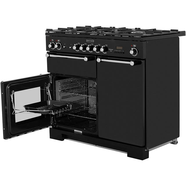 Rangemaster KCH100DFFCR/C Kitchener 100cm Dual Fuel Range Cooker - Cream / Chrome - KCH100DFFCR/C_CR - 3