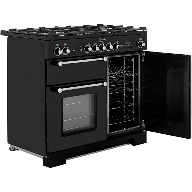 Rangemaster KCH100DFFCR/C Kitchener 100cm Dual Fuel Range Cooker - Cream / Chrome - KCH100DFFCR/C_CR - 4