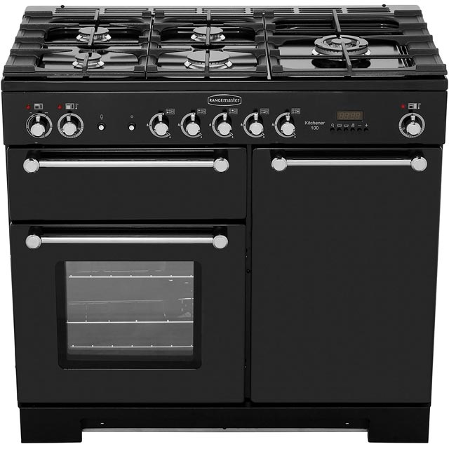 Rangemaster KCH100DFFCR/C Kitchener 100cm Dual Fuel Range Cooker - Cream / Chrome - KCH100DFFCR/C_CR - 5