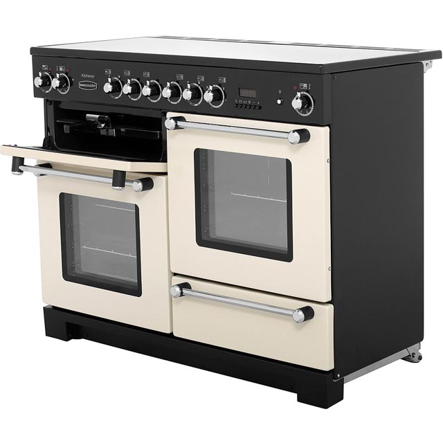 Rangemaster KCH110ECCR/C Kitchener 110cm Electric Range Cooker - Cream / Chrome - KCH110ECCR/C_CR - 2