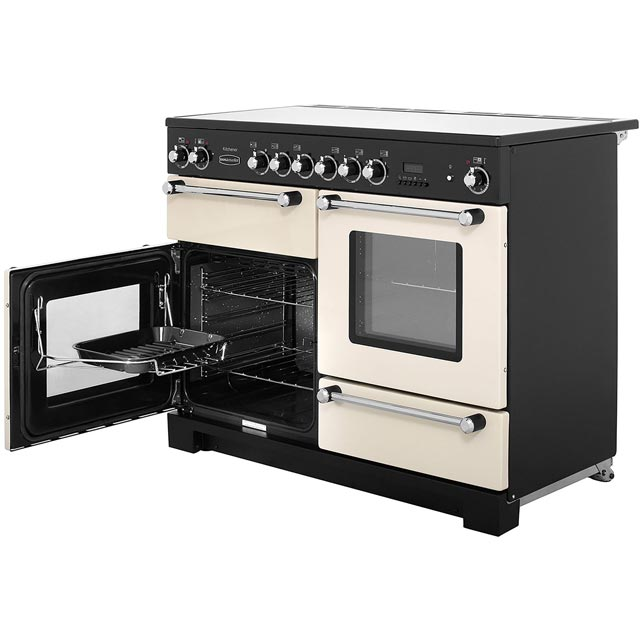 Rangemaster KCH110ECCR/C Kitchener 110cm Electric Range Cooker - Cream / Chrome - KCH110ECCR/C_CR - 3