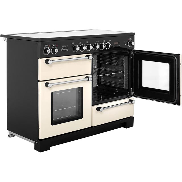 Rangemaster KCH110ECCR/C Kitchener 110cm Electric Range Cooker - Cream / Chrome - KCH110ECCR/C_CR - 4