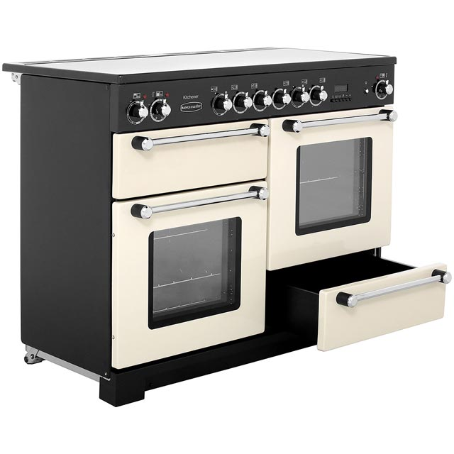 Rangemaster KCH110ECCR/C Kitchener 110cm Electric Range Cooker - Cream / Chrome - KCH110ECCR/C_CR - 5