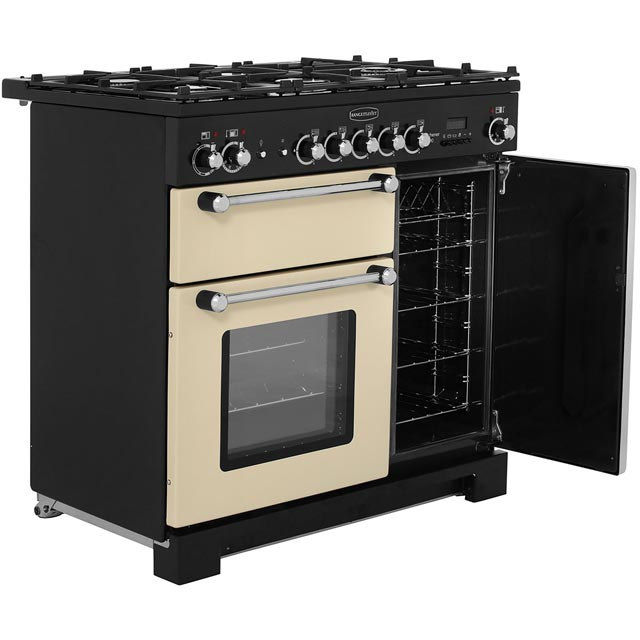 Rangemaster KCH90DFFCR/C Kitchener 90cm Dual Fuel Range Cooker - Cream / Chrome - KCH90DFFCR/C_CR - 4