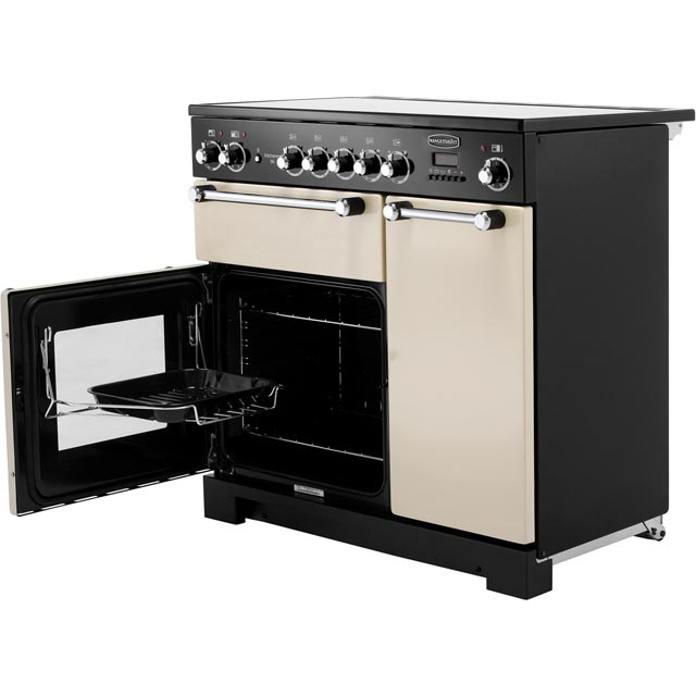 Rangemaster KCH90ECCR/C Kitchener 90cm Electric Range Cooker - Cream / Chrome - KCH90ECCR/C_CR - 3