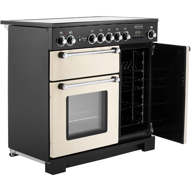 Rangemaster KCH90ECCR/C Kitchener 90cm Electric Range Cooker - Cream / Chrome - KCH90ECCR/C_CR - 4