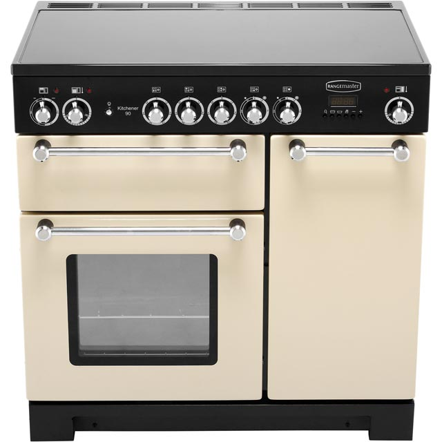 Rangemaster KCH90ECCR/C Kitchener 90cm Electric Range Cooker - Cream / Chrome - KCH90ECCR/C_CR - 5