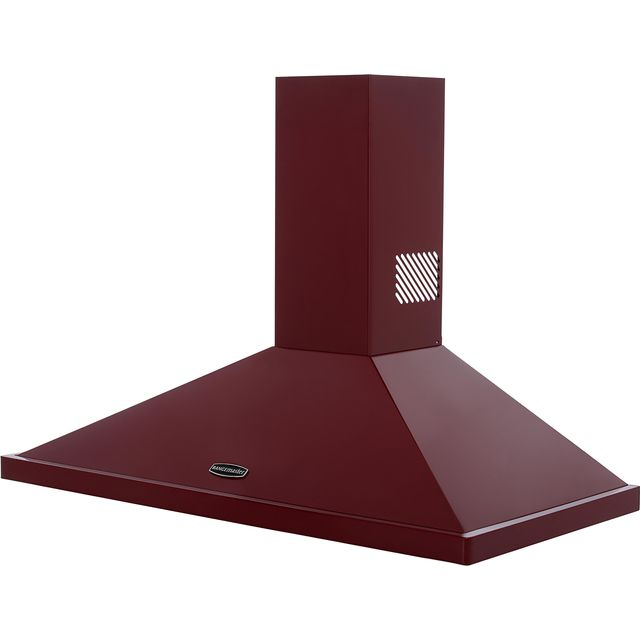 Rangemaster LEIHDC100CY/C 100 cm Chimney Cooker Hood - Cranberry - B Rated