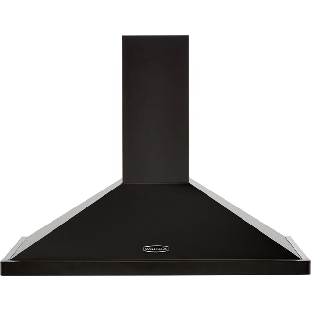 Rangemaster LEIHDC90BC Built In Chimney Cooker Hood - Black / Chrome - LEIHDC90BC_BK - 1
