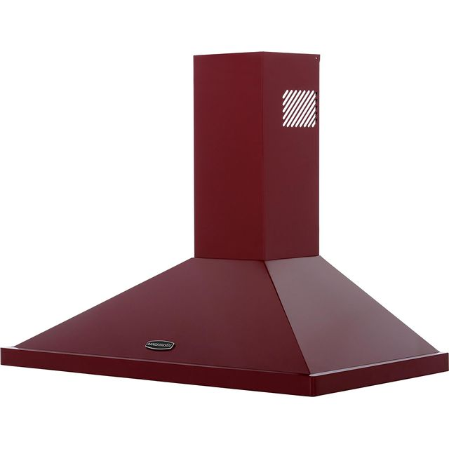 Rangemaster LEIHDC90CY/C Built In Chimney Cooker Hood - Cranberry / Chrome - LEIHDC90CY/C_CY - 1
