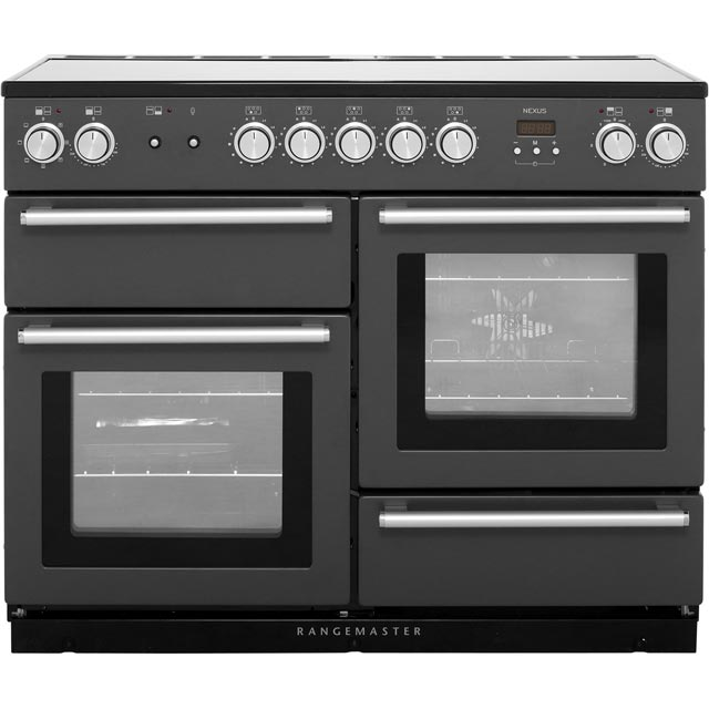 Rangemaster Nexus NEX110EISL/C 110cm Electric Range Cooker with Induction Hob - Slate - A/A Rated - NEX110EISL/C_SL - 1