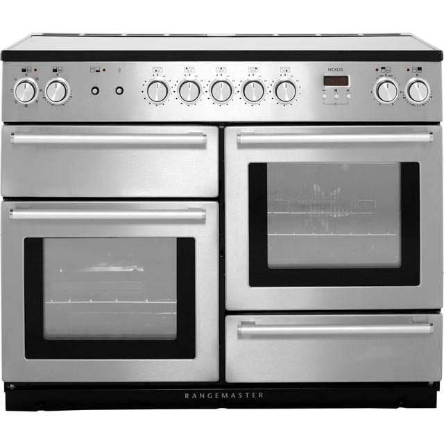 Rangemaster Nexus 110cm Electric Range Cooker with Induction Hob - Stainless Steel / Chrome - A/A Rated