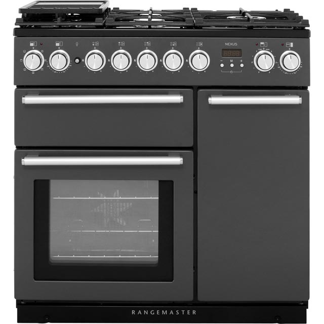 Rangemaster Nexus 90cm Dual Fuel Range Cooker - Slate - A Rated