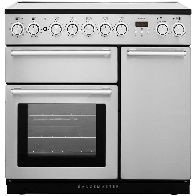 Rangemaster Nexus NEX90EISS/C 90cm Electric Range Cooker with Induction Hob - Stainless Steel / Chrome - A/A Rated - NEX90EISS/C_SS - 1