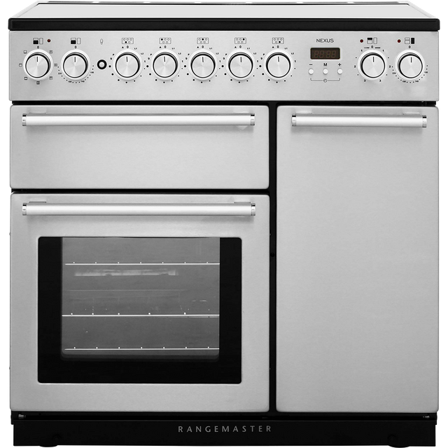 Rangemaster Nexus NEX90EISS/C 90cm Electric Range Cooker with Induction Hob - Stainless Steel / Chrome - A/A Rated