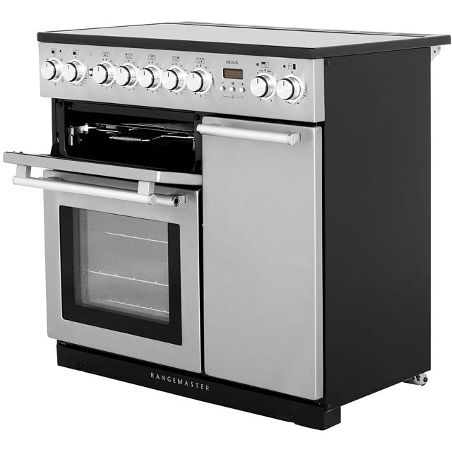 Rangemaster NEX90EISS/C Nexus 90cm Electric Range Cooker - Stainless Steel / Chrome - NEX90EISS/C_SS - 5