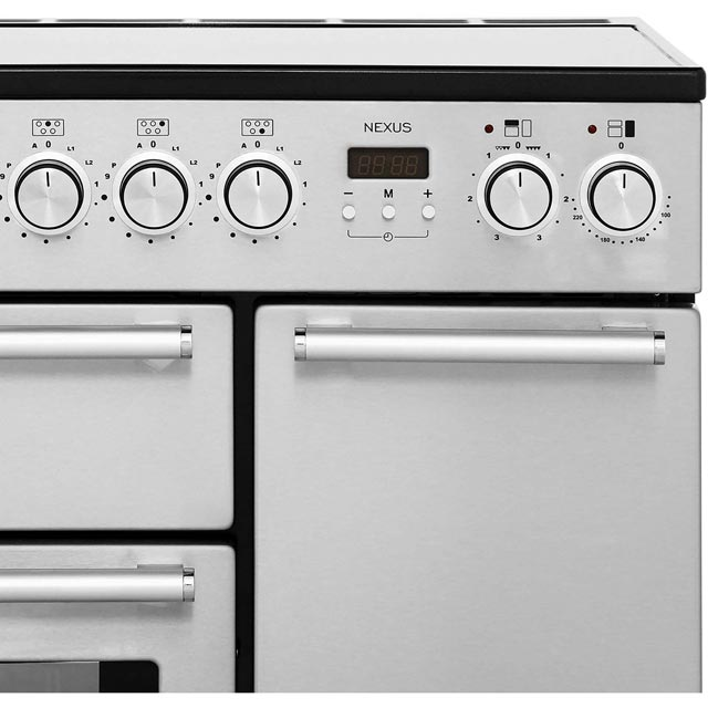 Rangemaster NEX90EISS/C Nexus 90cm Electric Range Cooker - Stainless Steel / Chrome - NEX90EISS/C_SS - 3