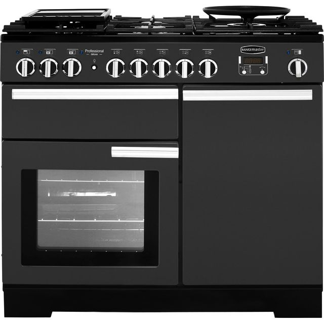 Rangemaster Professional Deluxe 100cm Dual Fuel Range Cooker - Slate - A Rated