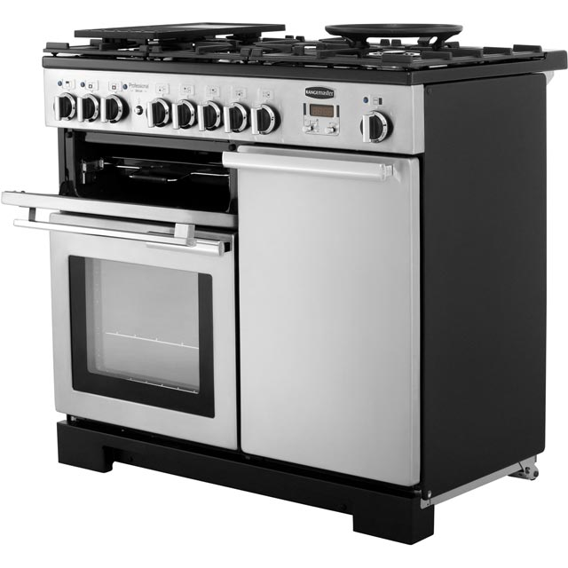 Rangemaster PDL100DFFSS/C Professional Deluxe 100cm Dual Fuel Range Cooker - Stainless Steel - PDL100DFFSS/C_SS - 2