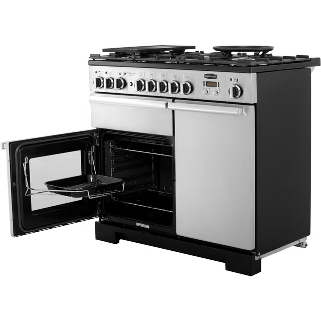 Rangemaster PDL100DFFSS/C Professional Deluxe 100cm Dual Fuel Range Cooker - Stainless Steel - PDL100DFFSS/C_SS - 3