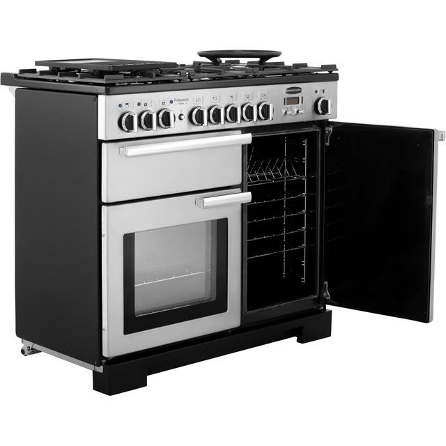 Rangemaster PDL100DFFSS/C Professional Deluxe 100cm Dual Fuel Range Cooker - Stainless Steel - PDL100DFFSS/C_SS - 4