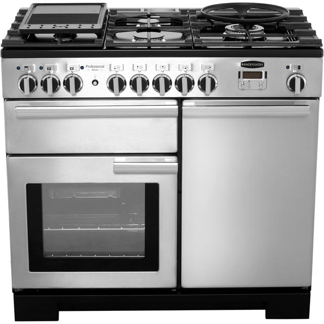 Rangemaster PDL100DFFSS/C Professional Deluxe 100cm Dual Fuel Range Cooker - Stainless Steel - PDL100DFFSS/C_SS - 5