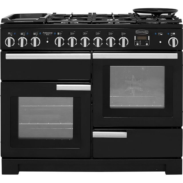 Rangemaster Professional Deluxe 110cm Dual Fuel Range Cooker - Black - A Rated