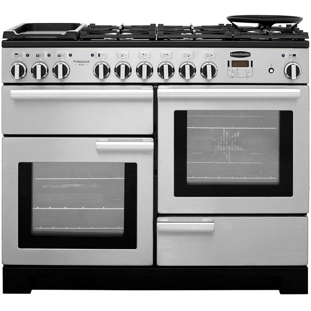 Rangemaster Professional Deluxe 110cm Dual Fuel Range Cooker - Stainless Steel - A Rated