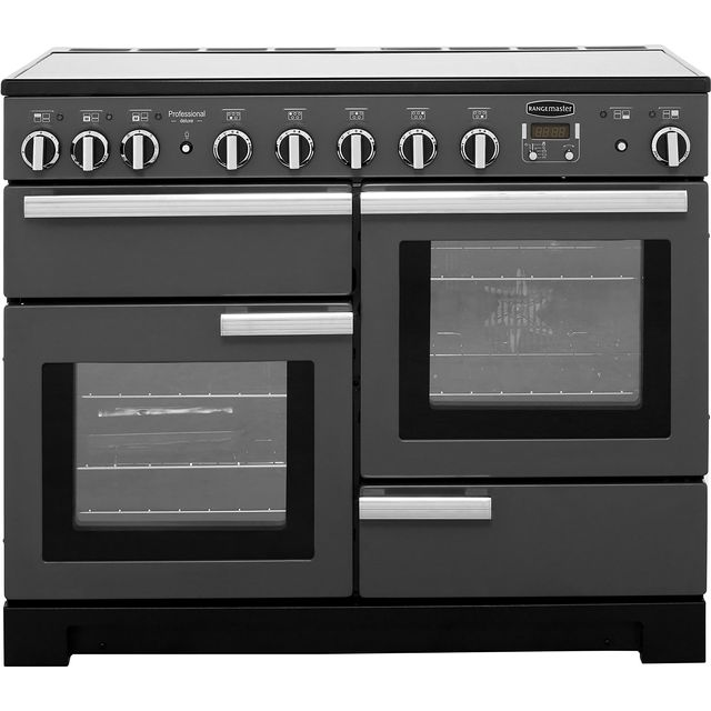 Rangemaster Professional Deluxe PDL110EISL/C 110cm Electric Range Cooker with Induction Hob - Slate - A/A Rated - PDL110EISL/C_SL - 1