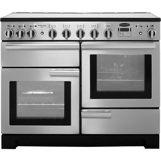 Rangemaster Professional Deluxe PDL110EISS/C 110cm Electric Range Cooker with Induction Hob - Stainless Steel - A/A Rated