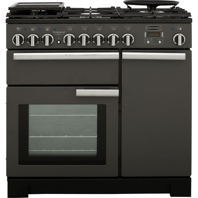 Rangemaster Professional Deluxe PDL90DFFSL/C Free Standing Range Cooker in Slate