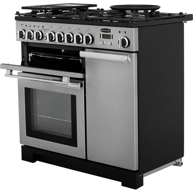 Rangemaster PDL90DFFSS/C Professional Deluxe 90cm Dual Fuel Range Cooker - Stainless Steel - PDL90DFFSS/C_SS - 2