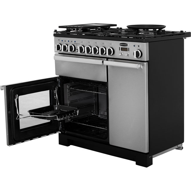 Rangemaster PDL90DFFSS/C Professional Deluxe 90cm Dual Fuel Range Cooker - Stainless Steel - PDL90DFFSS/C_SS - 3