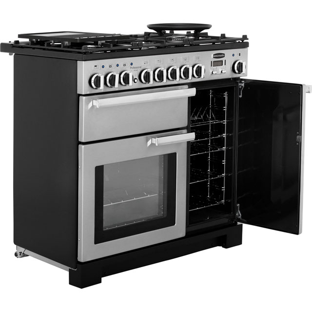 Rangemaster PDL90DFFSS/C Professional Deluxe 90cm Dual Fuel Range Cooker - Stainless Steel - PDL90DFFSS/C_SS - 4