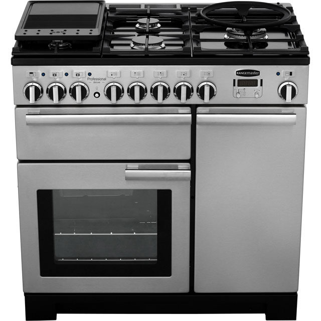 Rangemaster PDL90DFFSS/C Professional Deluxe 90cm Dual Fuel Range Cooker - Stainless Steel - PDL90DFFSS/C_SS - 5