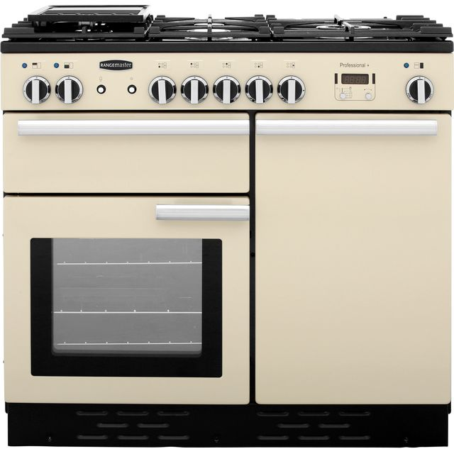 Rangemaster Professional Plus PROP100DFFCR/C 100cm Dual Fuel Range Cooker - Cream - A Rated