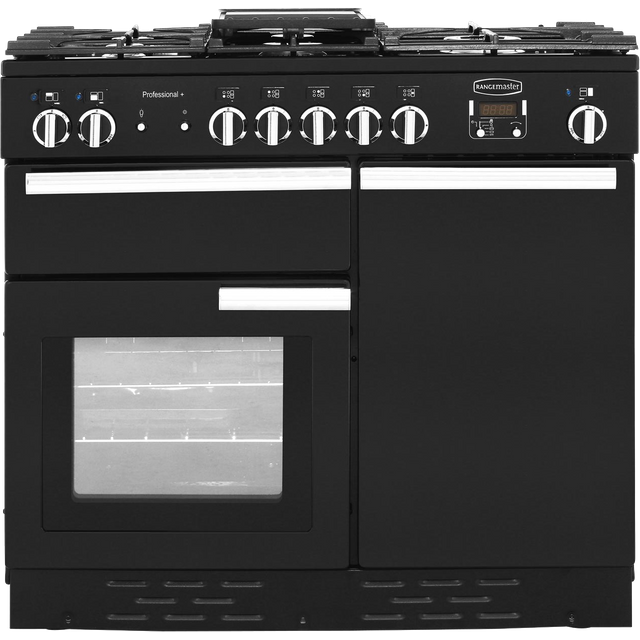 Rangemaster Professional Plus PROP100DFFGB/C 100cm Dual Fuel Range Cooker - Black - A/A Rated