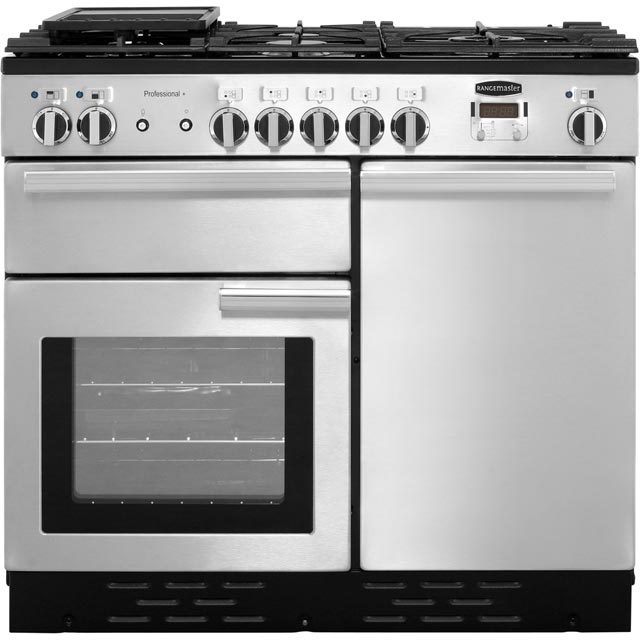 Rangemaster Professional Plus 100cm Dual Fuel Range Cooker - Stainless Steel - A Rated