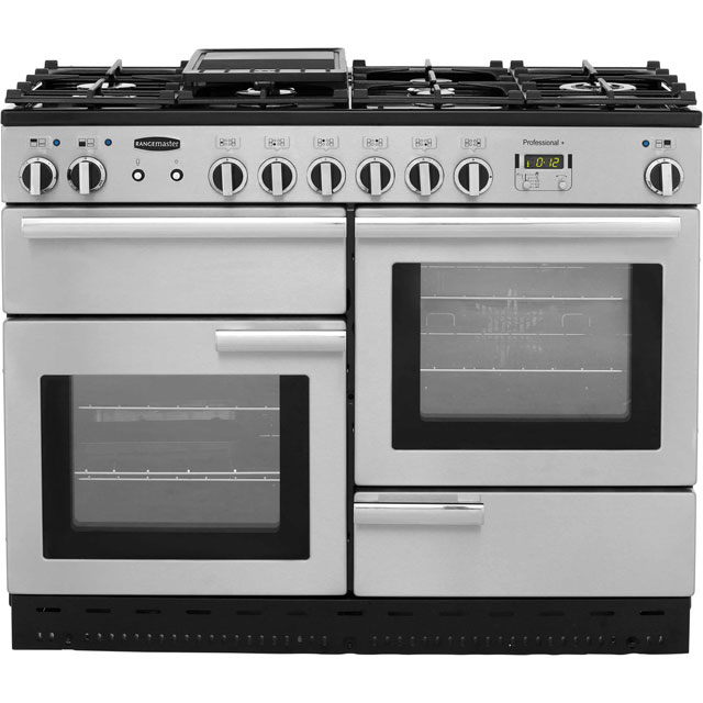 Rangemaster Professional Plus 110cm Dual Fuel Range Cooker - Stainless Steel - B Rated