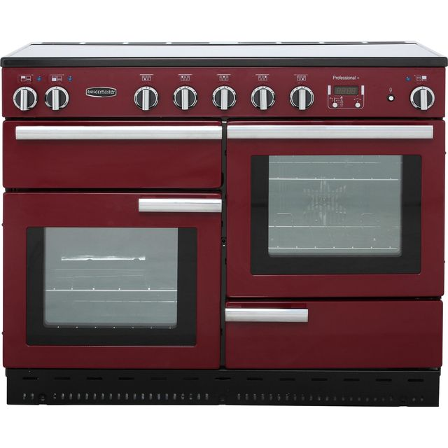 Rangemaster Professional Plus 110cm Electric Range Cooker with Induction Hob - Cranberry - A Rated