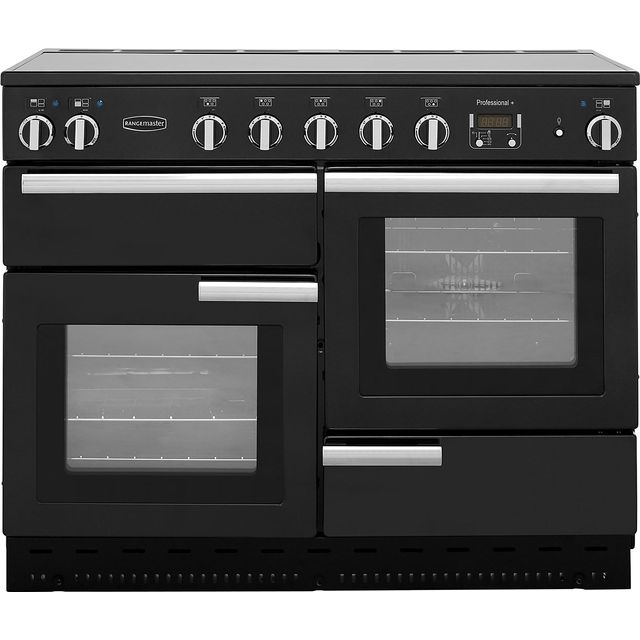 Rangemaster Professional Plus 110cm Electric Range Cooker with Induction Hob - Black - A Rated