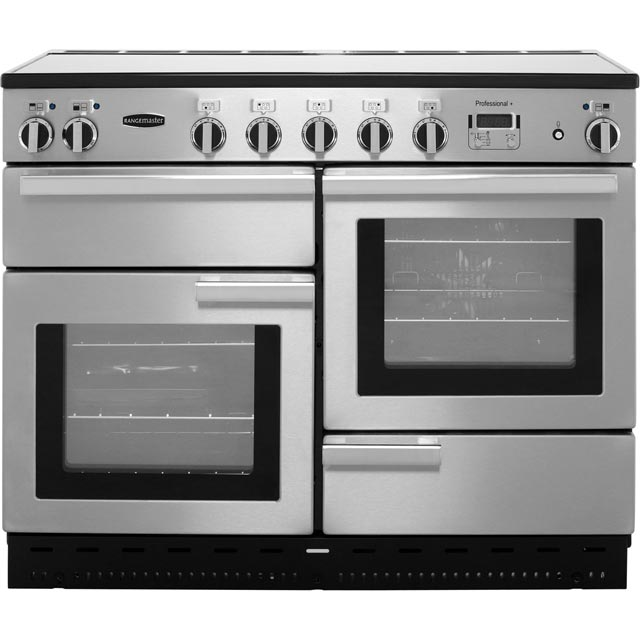 Rangemaster Professional Plus 110cm Electric Range Cooker with Induction Hob - Stainless Steel - A Rated