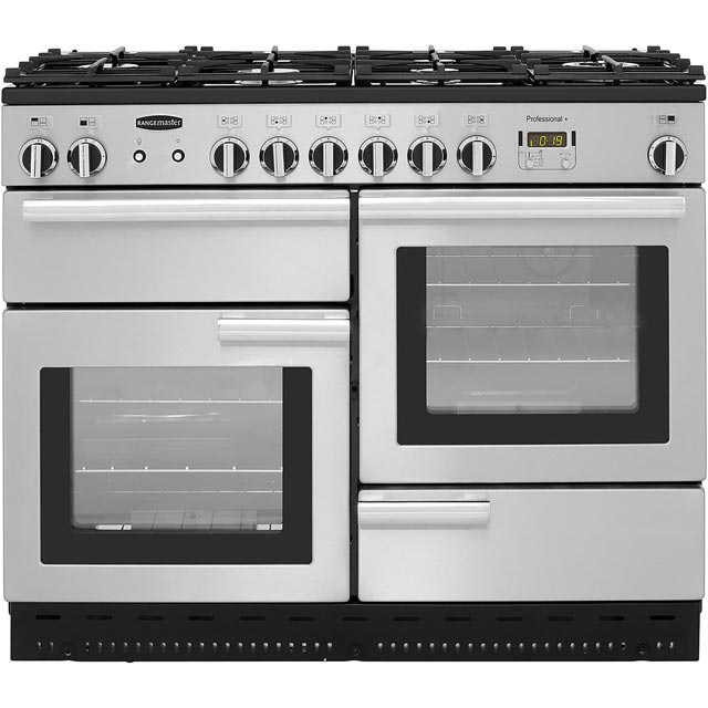 Rangemaster Professional Plus Gas Range Cooker - Stainless Steel - A/A Rated