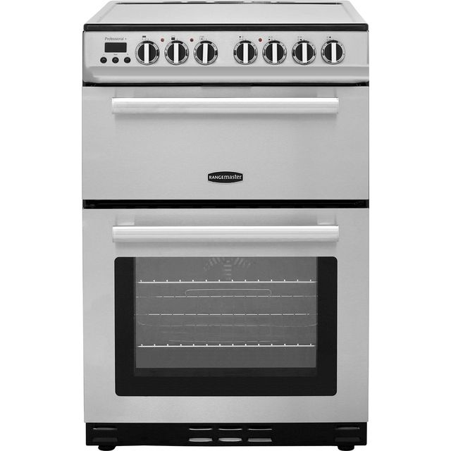 Rangemaster Professional Plus 60 PROP60ECSS/C 60cm Electric Cooker with Ceramic Hob - Stainless Steel / Chrome - A/B Rated - PROP60ECSS/C_SS - 1