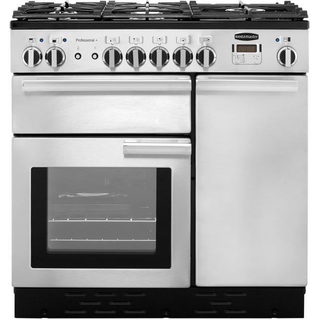 Rangemaster Professional Plus 90cm Dual Fuel Range Cooker - Stainless Steel - A/A Rated